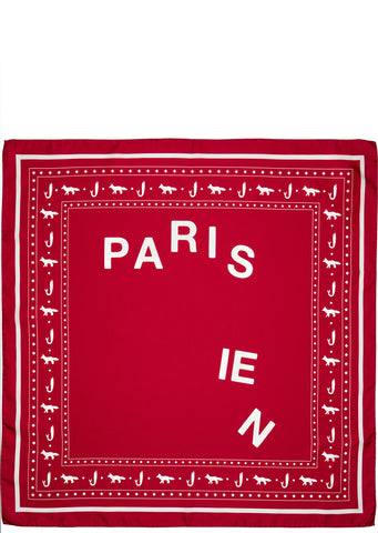 SS17 Parisienne Silk Scarf in Red