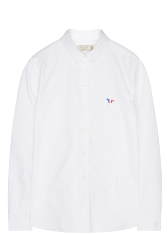 SS17 Oxford Tricolour Fox Patch Shirt in White