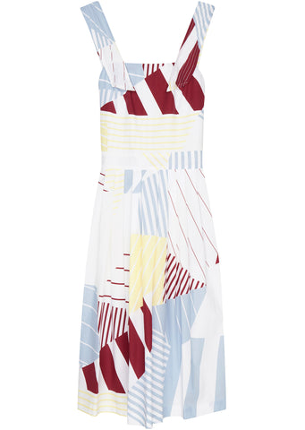 SS17 Iris Open Backed Long Dress in Multi