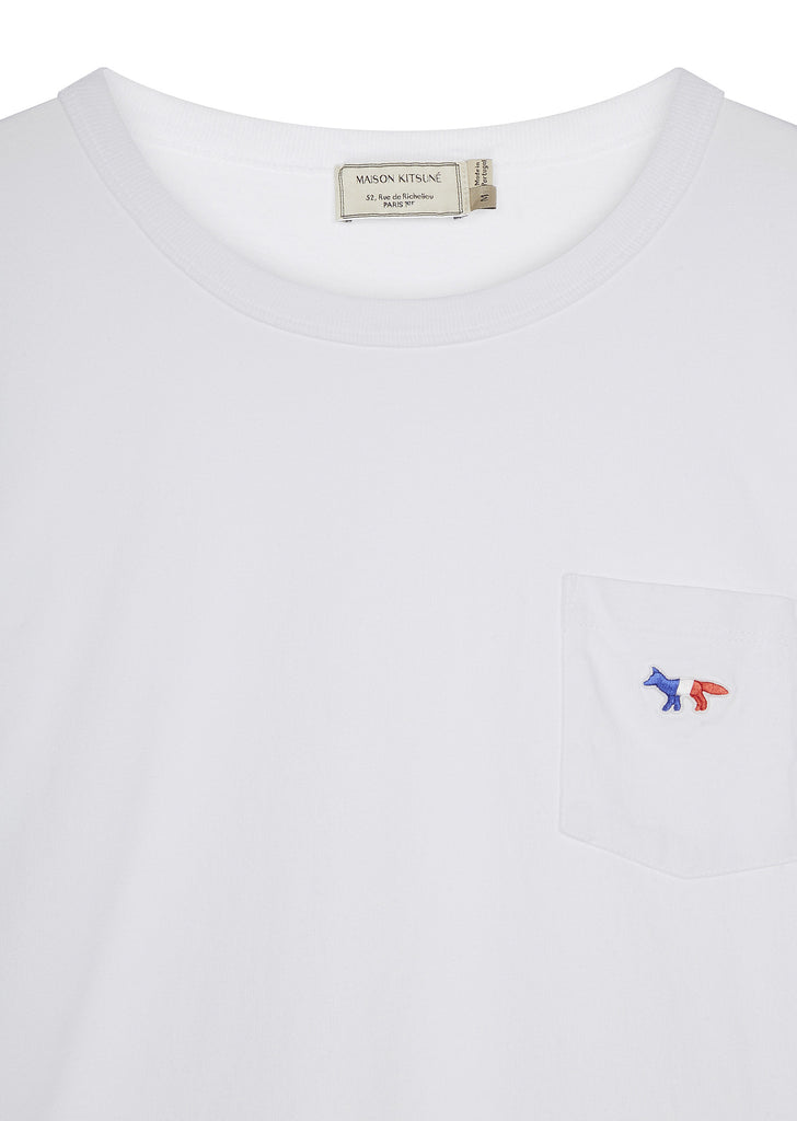 SS17 Tricolour Fox Patch Cotton T-shirt in White