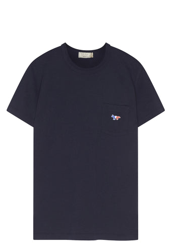 SS17 Tricolour Fox Patch Cotton T-shirt in Navy