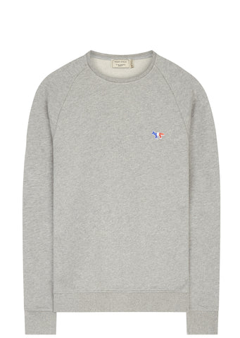 SS17 Sweatshirt Tricolour Fox Patch in Grey