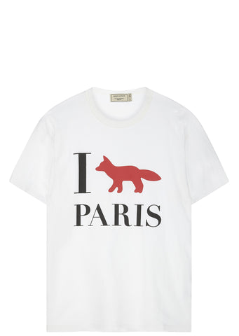 SS17 'I Fox Paris' Cotton T-shirt in White