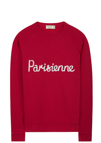 SS17 Parisienne Sweatshirt in Red