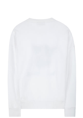 SS17 Ines Longevia Fox Sweatshirt in White