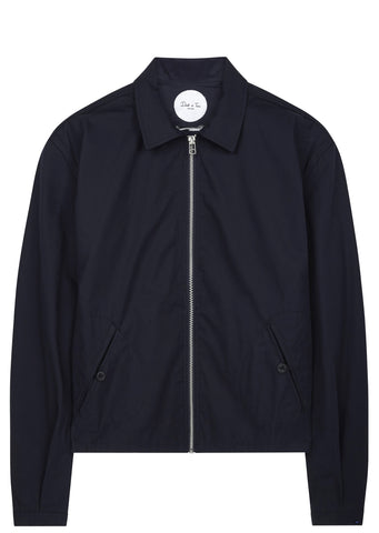 SS17 Waxed Cotton Coach Jacket in Navy