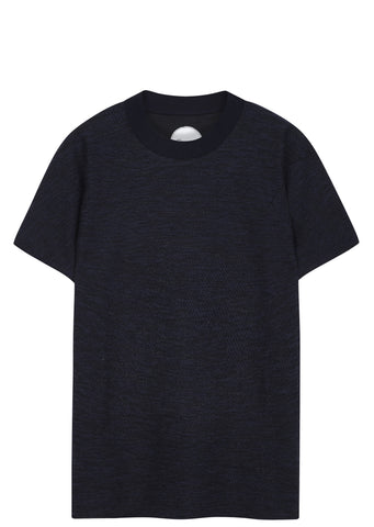 SS17 Frank Tech Cotton T-Shirt in Navy