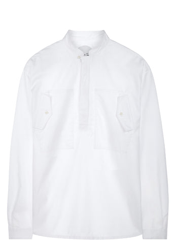 SS17 Cotton Utility Shirt in White
