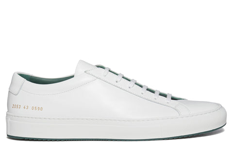 SS17 Achilles Contrast Super Sneaker in White/Green