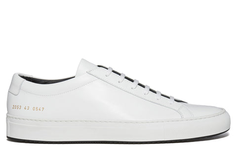 SS17 Achilles Contrast Super Sneaker in White/Black