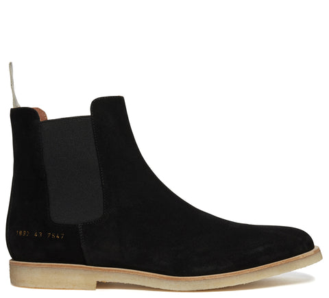 SS17 Suede Chelsea Boot in Black