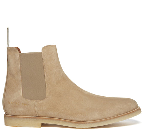 SS17 Suede Chelsea Boot in Tan