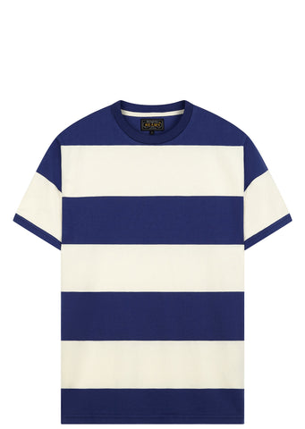 """BLOCK STRIPED CREWNECK T-SHIR"""