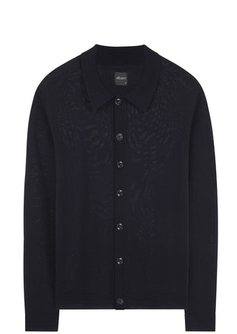 SS17 Merino Knitted Shirt in Navy