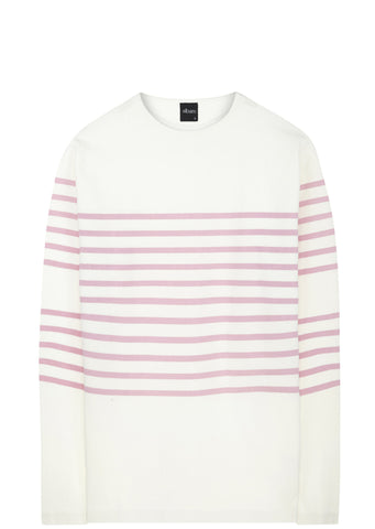 SS17 Striped Breton T-Shirt in Pink