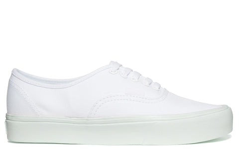 SS17 'Authentic Lite' Canvas Sneakers in True White/Zephyr