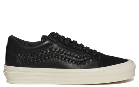SS17 UA Old Skool Weave Sneaker in Black Leather