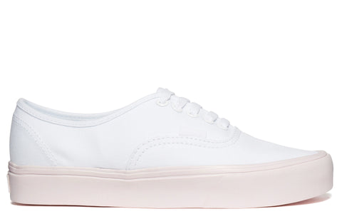 SS17 'Authentic Lite' Canvas Sneakers in True White/Delicacy