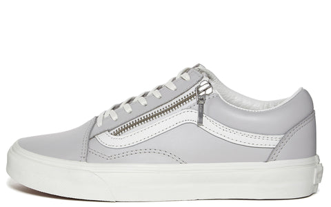 SS17 UA Old Skool Zip Sneaker in Grey/ White