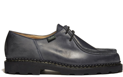 SS17 Michael Grained Leather Shoe in Navy