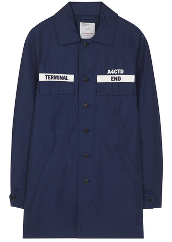 SS17 Military Overshirt in Navy