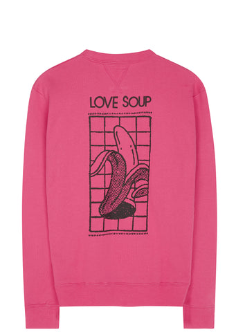 SS17 Love Soup Crewneck Sweatshirt in Pink