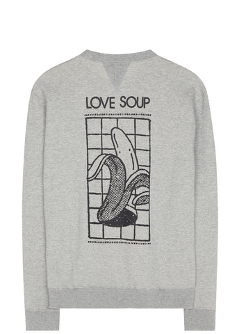SS17 Love Soup Crewneck Sweatshirt in Heather Grey