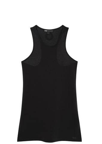 SS17 Jersey Racer Tank Top in Black