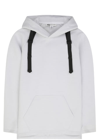 SS17 Bonded Strap Sci-fi Hoodie in White