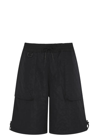 SS17 3D Space Track Short in Black