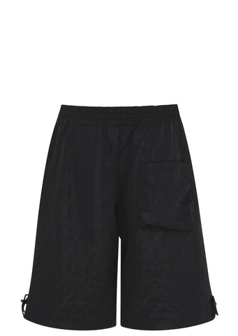 SS17 3D Space Track Shorts in Black