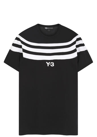 SS17 Three Stripe T-shirt in Black