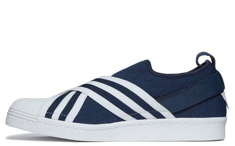 x adidas Originals Superstars in Navy