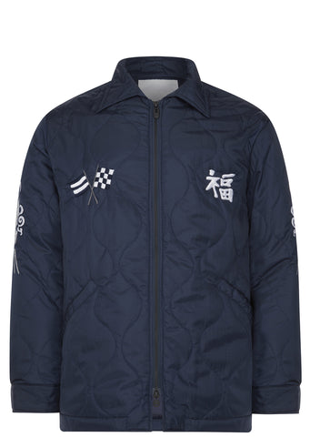 SS17 Quilted Souvenir Mac Jacket in Navy