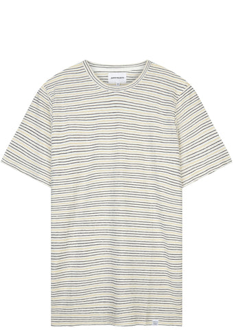 SS17 Fine Stripe T-shirt in Dried Olive/Ecru