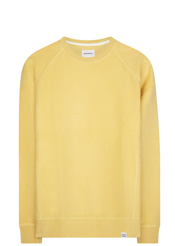 SS17 Ketel Solid Brushed Crewneck Sweatshirt in Strand Yellow