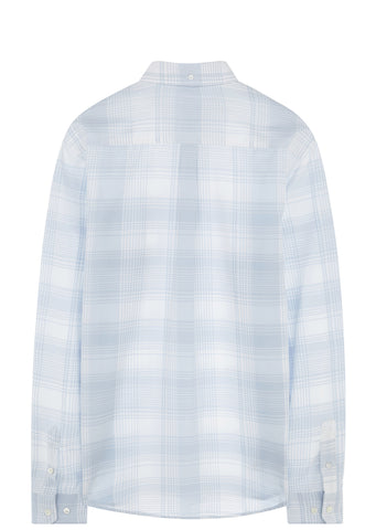 SS17 Oswald Light Check Shirt in Pale Blue