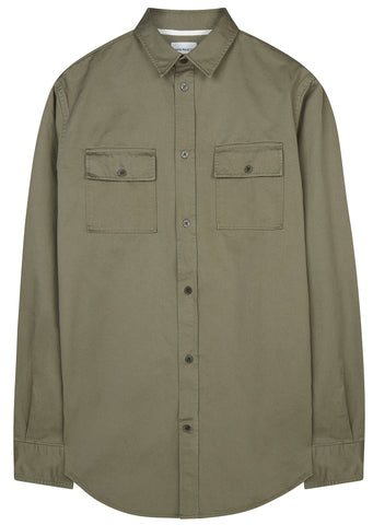 SS17 Villads Twill Shirt in Dried Olive