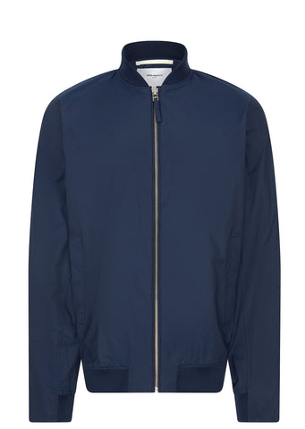 SS17 Ryan Crisp Cotton Bomber Jacket in Navy