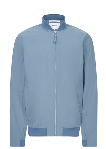 SS17 Ryan Crisp Cotton Bomber Jacket in Blue