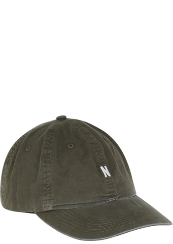 SS17 Light Twill Sports Cap in Dried Olive