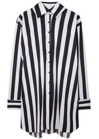 SS17 Oversized Striped Shirt in Black/White