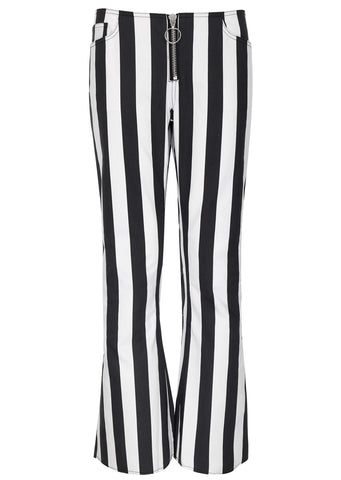 SS17 Striped Capris Trousers in Black/White