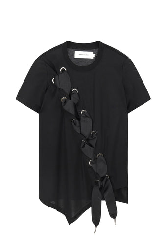 SS17 Lace-Up T-Shirt in Black
