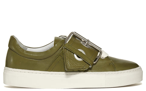 SS17 Metal Buckle Sneaker in Green