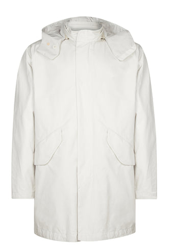 SS17 Cotton Splash Shell Coat in Light Beige