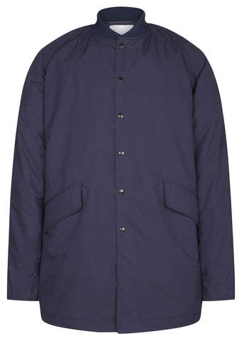 SS17 Micro Polyester Taffetta Ground Coat in Navy