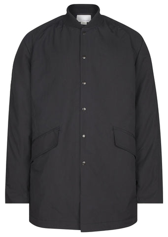 SS17 Micro Polyester Taffetta Ground Coat in Black