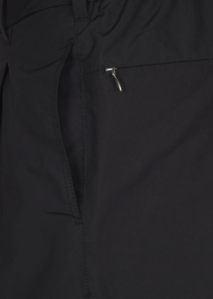 SS17 Micro Polyester Taffetta Wind Pants in Black