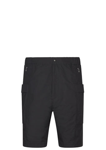 SS17 Micro Polyester Taffetta Wind Shorts in Black